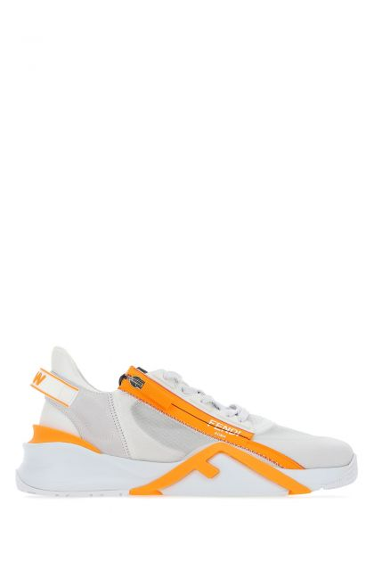 Multicolor suede and fabric Flow sneakers