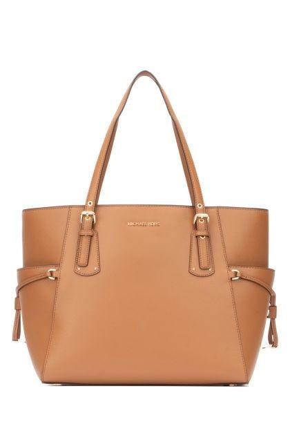 Camel leather Voyager shoulder bag