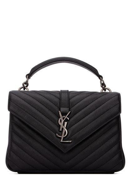 Black leather College handbag