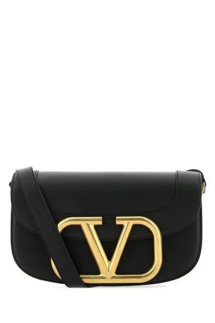 Black leather Supervee shoulder bag