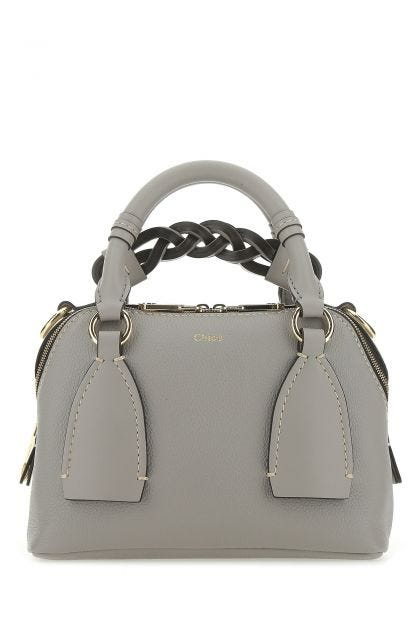 Cream leather small Daria handbag