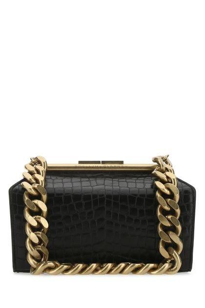 Black synthetic leather medium Chunky shoulder bag