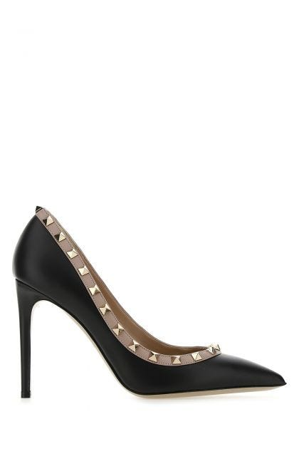 Two-tone leather Rockstud pumps