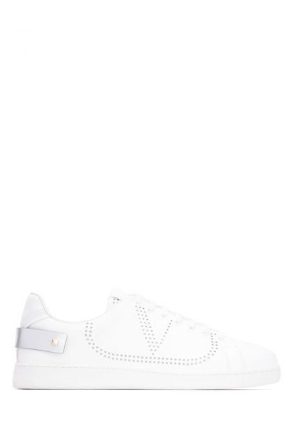 White leather Backnet sneakers