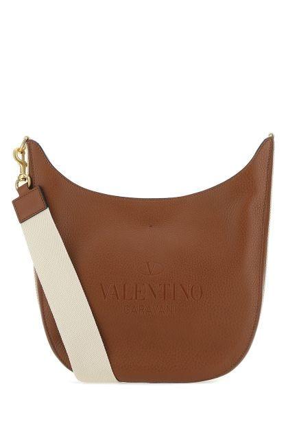 Caramel leather Identity crossbody bag