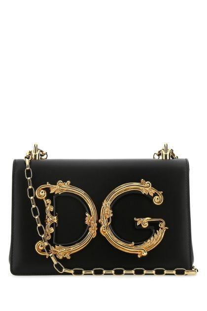 Black nappa leather Girls shoulder bag