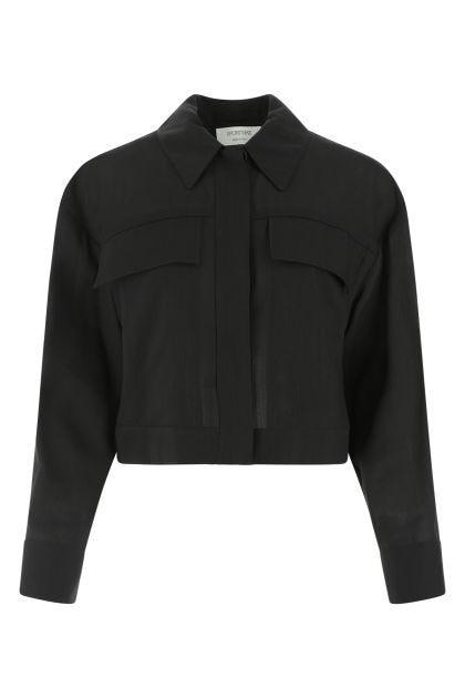 Black ramio blend Holiday oversize shirt