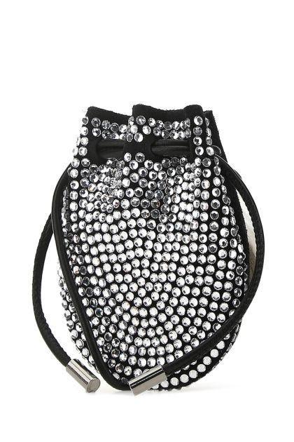 Black suede Mykonos pouch
