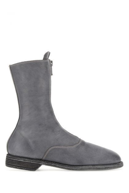 Dark grey leather 310 boots