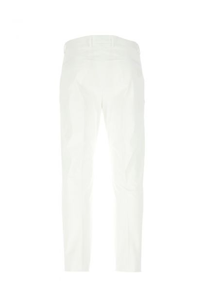 White stretch gabardine pant