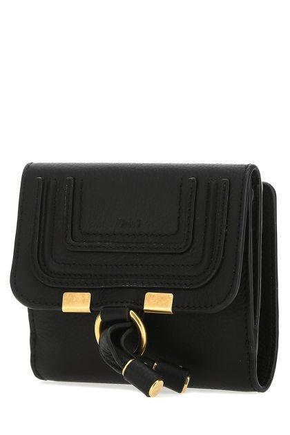 Black leather Marcie wallet
