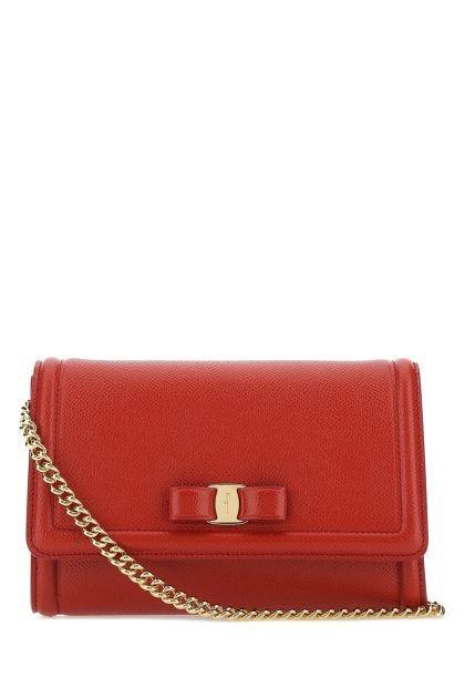 Red leather mini Vara clutch
