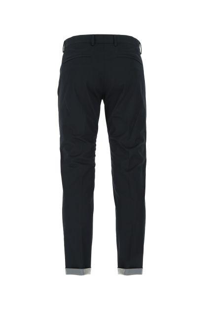 Black stretch cotton blend Epsilon pant