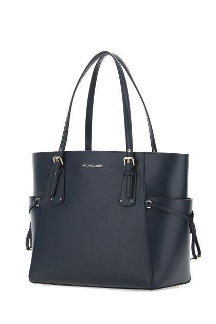 Navy blue leather medium Voyager shoulder bag