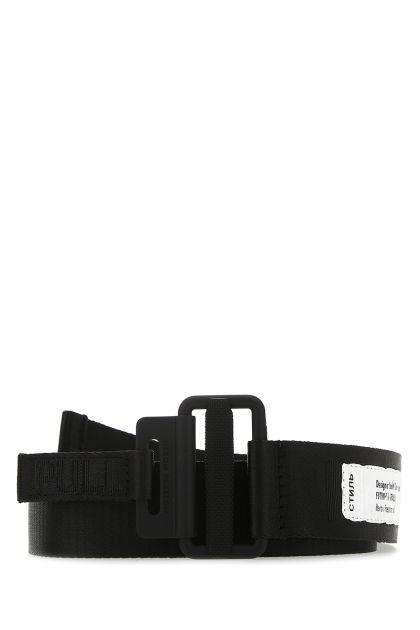 Black stretch polyester belt
