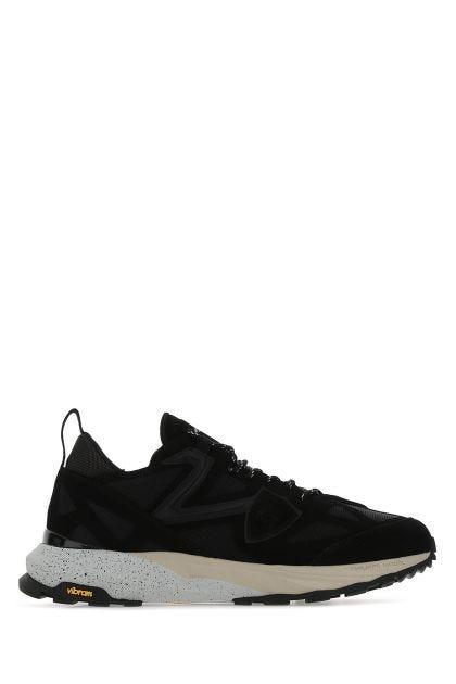 Black tech fabric Rocx sneakers