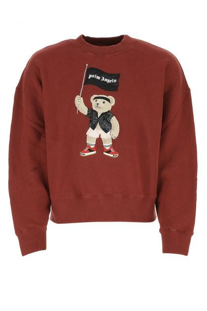 Tiziano red cotton oversize sweatshirt