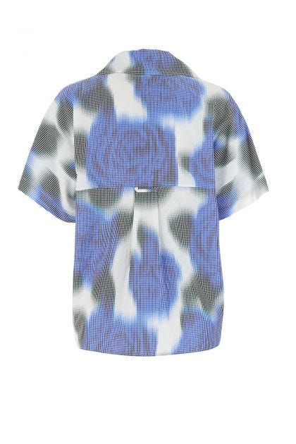 Multicolor acetate blend shirt dress