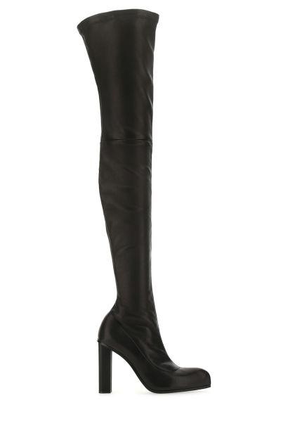 Black nappa leather Cuissard Peak boots