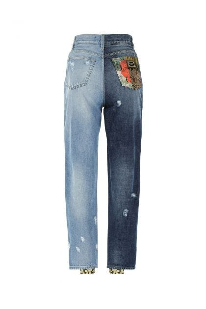 Multicolor denim jeans