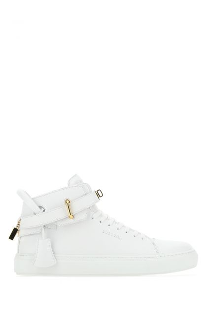 White leather 100MM sneakers
