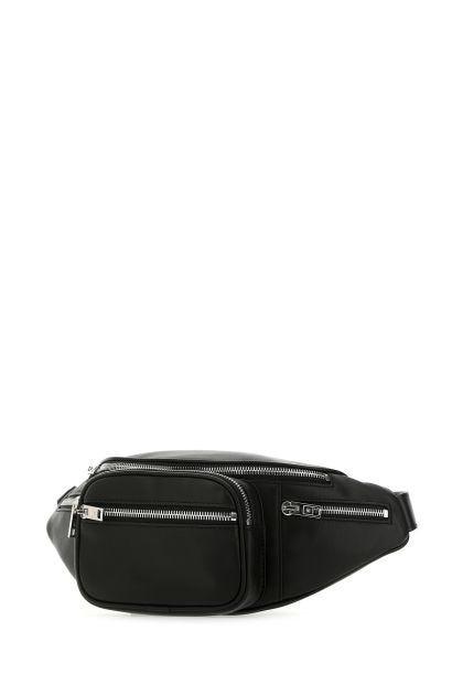 Black leather Attica Fanny belt bag
