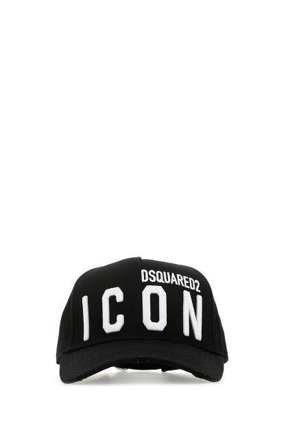 Black gabardine baseball cap