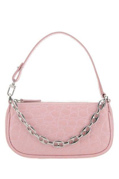 Pastel pink leather mini Rachel handbag