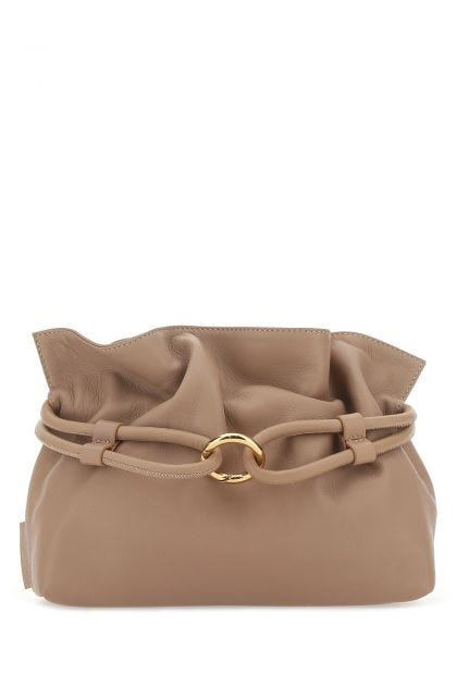Biscuit nappa leather Roma XL bucket bag