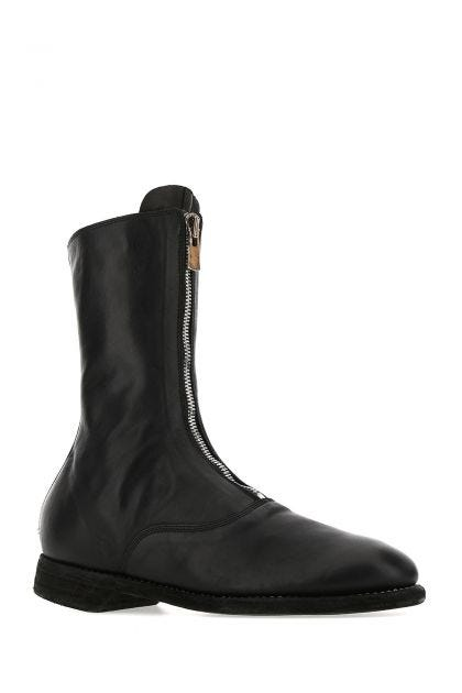 Black leather 310 boots