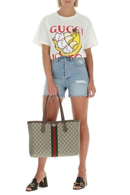 GG Supreme fabric Ophidia shopping bag