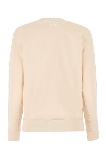 Skin pink cotton sweatshirt