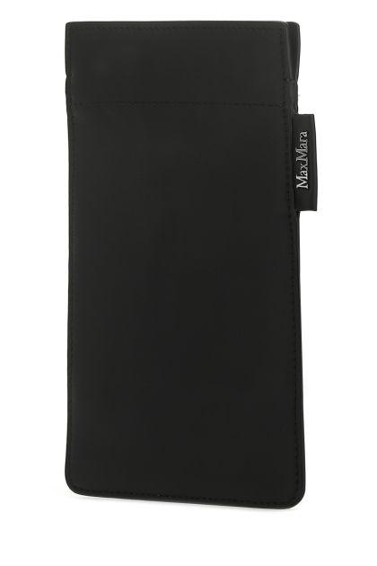 Black leather Ulrico phone holder
