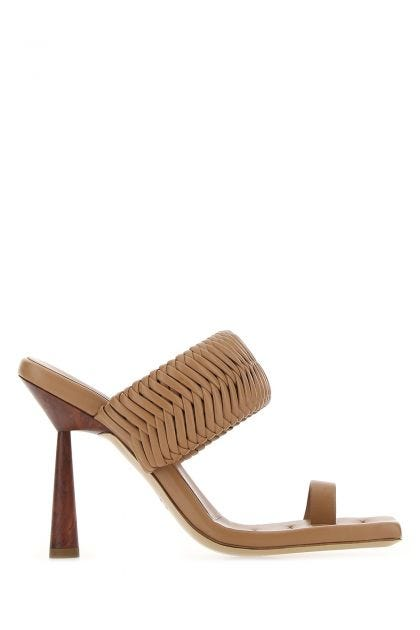 Biscuit leather Rosie 1 thong mules