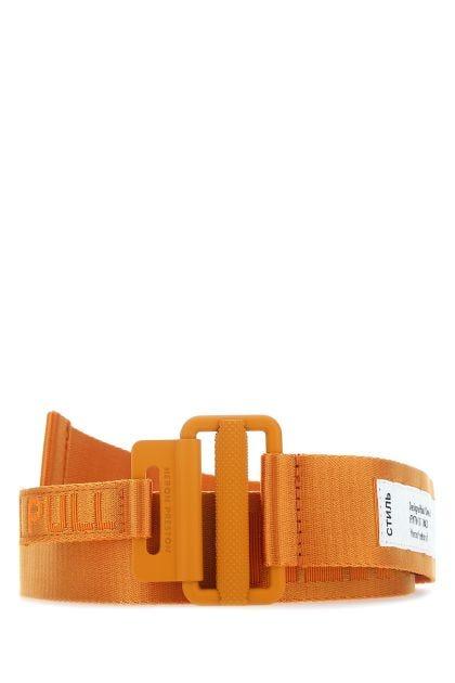 Orange stretch polyester belt