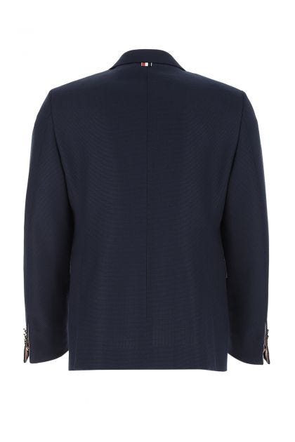 Blue wool and polyester blazer