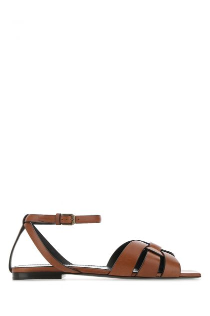 Brown leather New Papaya sandals