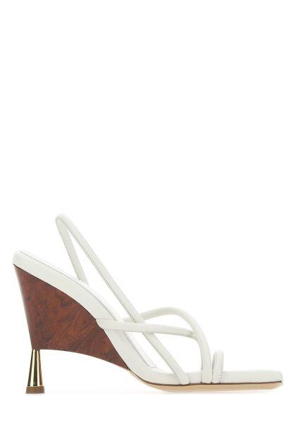 White nappa leather Rosie 2 sandals