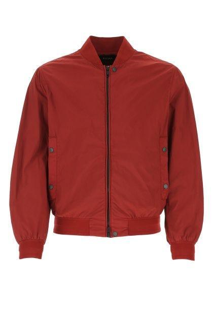 Burgundy nylon bomber jacket