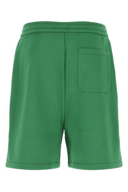 Grass green cotton bermuda shorts