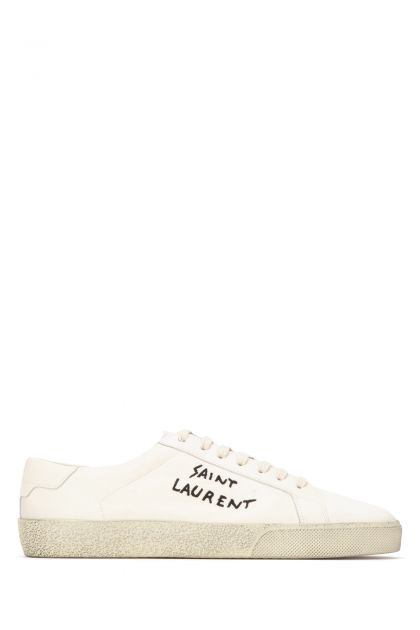 Ivory cotton Court SL / 06 sneakers
