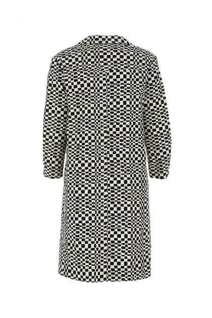 Embroidered stretch cotton Etere coat