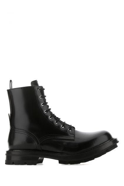 Black leather Worker boots