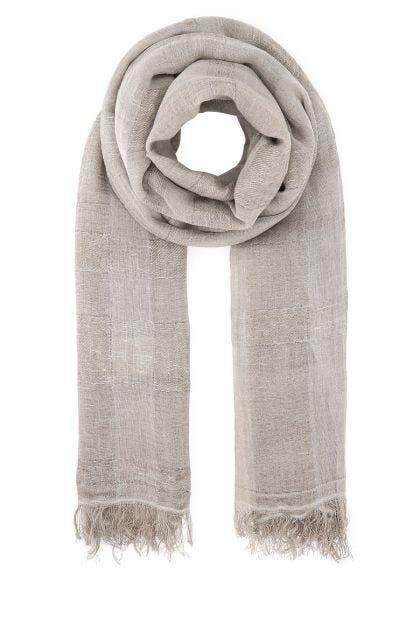Dove grey linen blend scarf