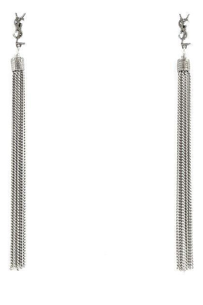 Silver metal Loulou earrings