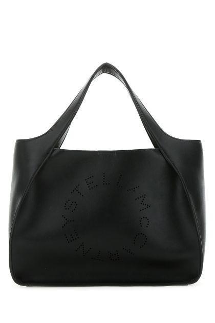 Black alter nappa Stella Logo handbag