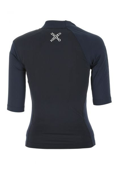 Two-tone stretch polyester t-shirt