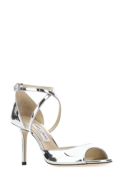 Silver leather Emsy 85 sandals