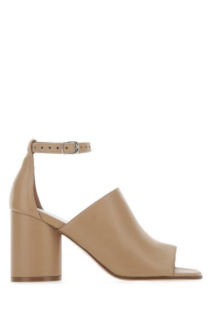 Cappuccino leather Tabi sandals