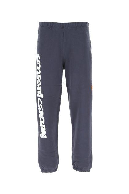 Navy blue cotton stretch joggers